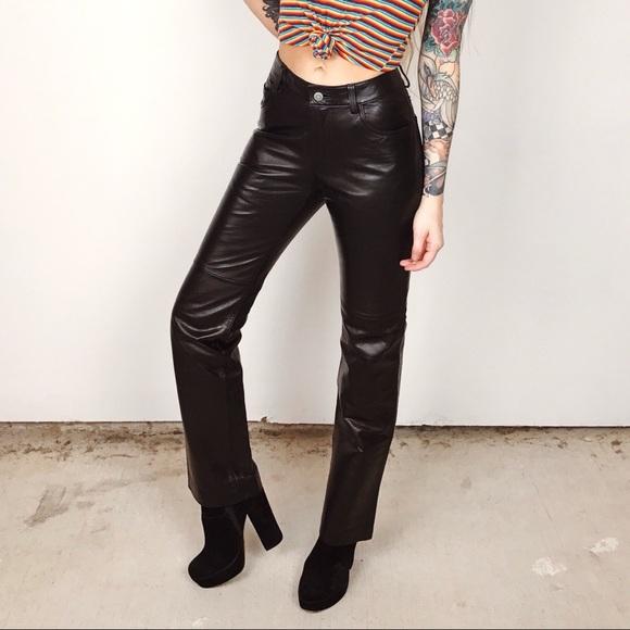 Gap 100% Leather Bootcut Pants